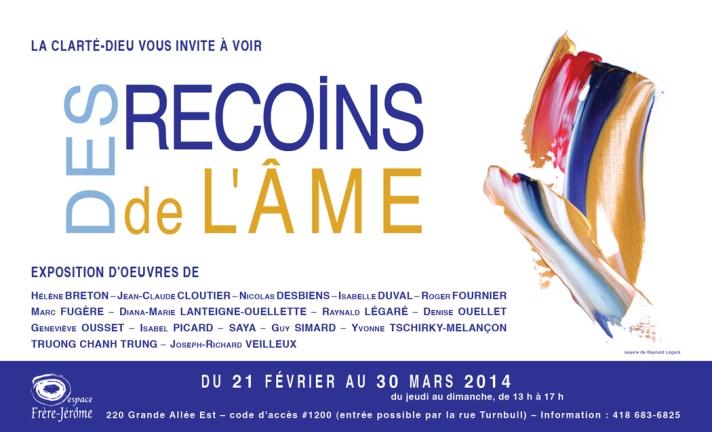 2014-02-21 Affiche Des recoins de l'âme