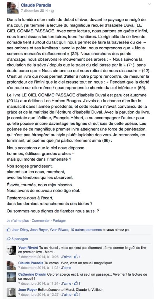 ClaudeParadisFacebook